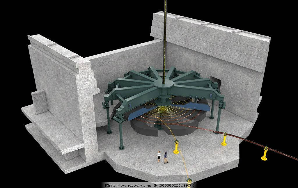 水力发电机组涡轮图片