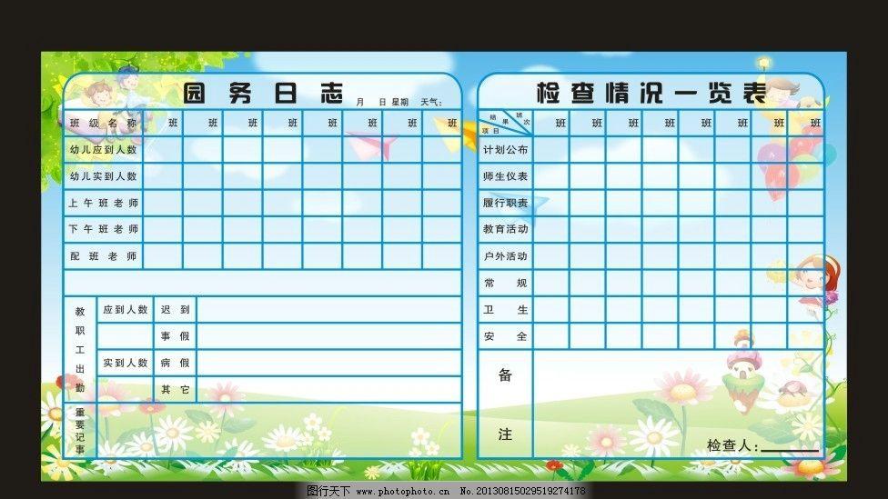 幼儿园展板 园务日志图片_设计案例_广告设计_图行