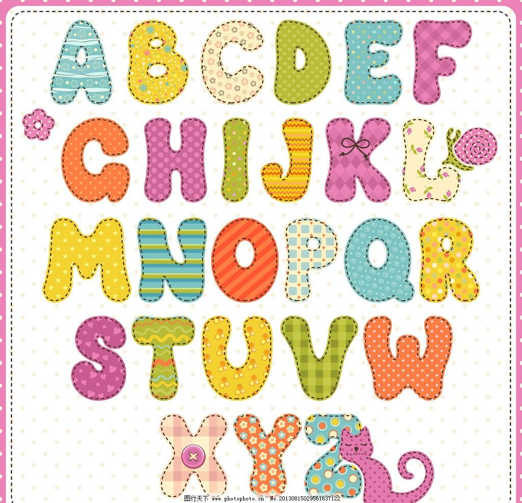 数字 拼音 儿童 幼儿 可爱 花纹 符号 字母主题 广告设计矢量素材