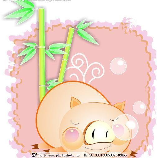 小猪 小猪模板下载 猪猪 小猪矢量素材 小猪模板下载 小猪 猪猪 可爱