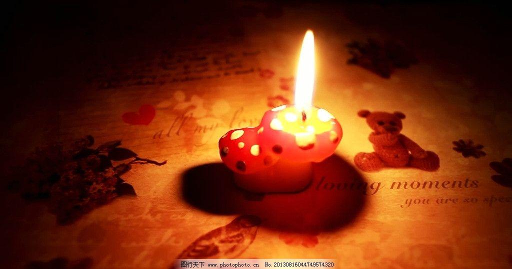 可爱的蘑菇蜡烛