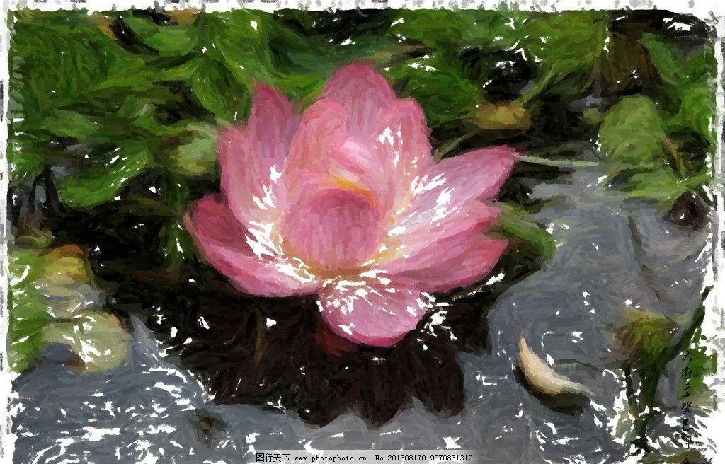 原创荷花鼠绘 花蕾 荷叶 绘画 手绘 花瓣 绘画书法 文化艺术
