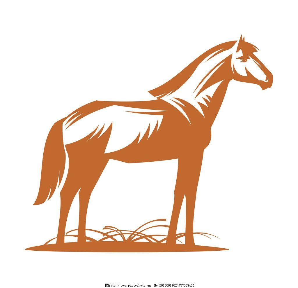 马 动物 图标 标志 矢量 素描 艺术 草 刺青 纹身 logo 剪影 野生动物