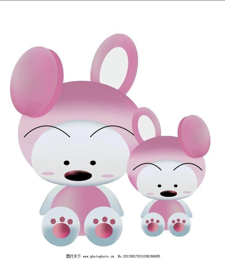 卡通baru 小狗 卡通小动物 韩国卡通娃娃 baru 大头娃娃 矢量图cdr