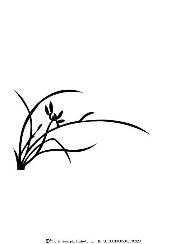 兰花 兰花图片免费下载 广告设计 矢量素材 移门图 矢量图