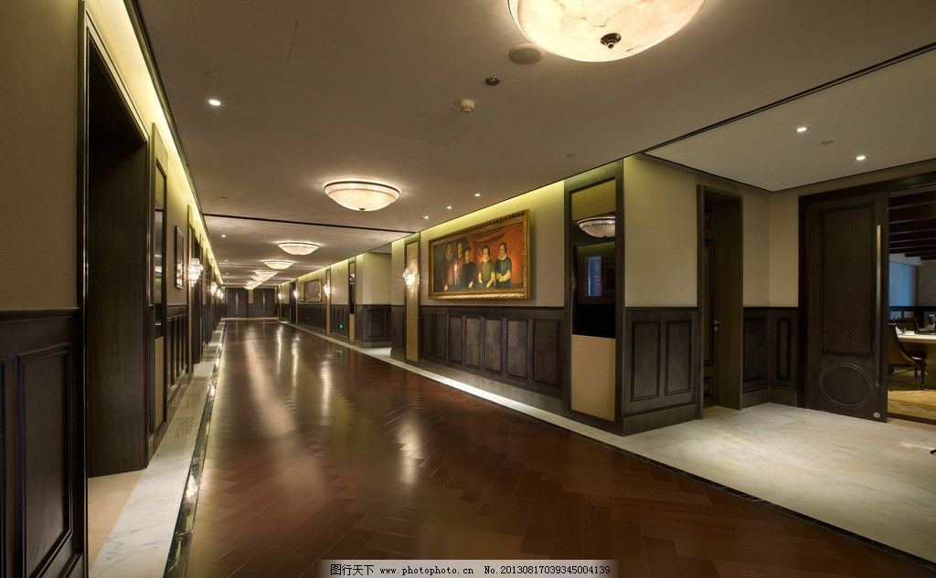 饭店 摆设 装饰品 工艺品 艺术品 软装 酒店夜景 走廊 过道 走道 欧式