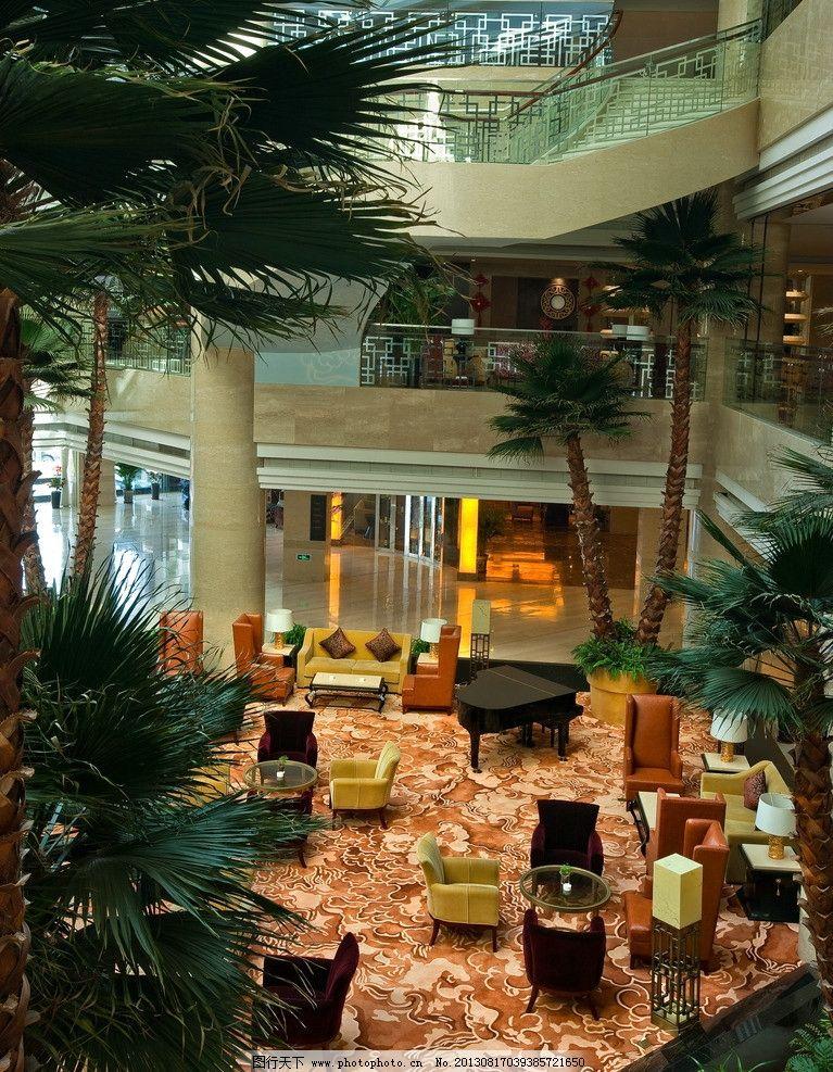 欧式酒店大堂植物
