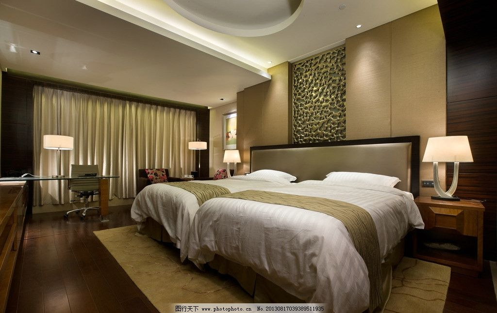 摄影图库 建筑园林 室内摄影  卧室 酒店 五星级酒店 洲际酒店 造型顶