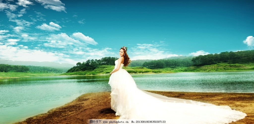 婚纱摄影 外景婚纱照 影楼样片 婚纱摄影图 水景婚纱照 韩式婚纱照