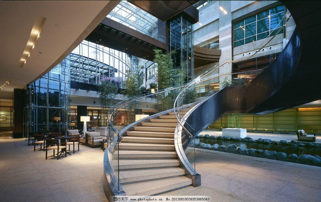 玻璃幕墙 采光顶 上海 玻璃栏杆 走廊 过道 走道 连廊 钢结构 楼梯