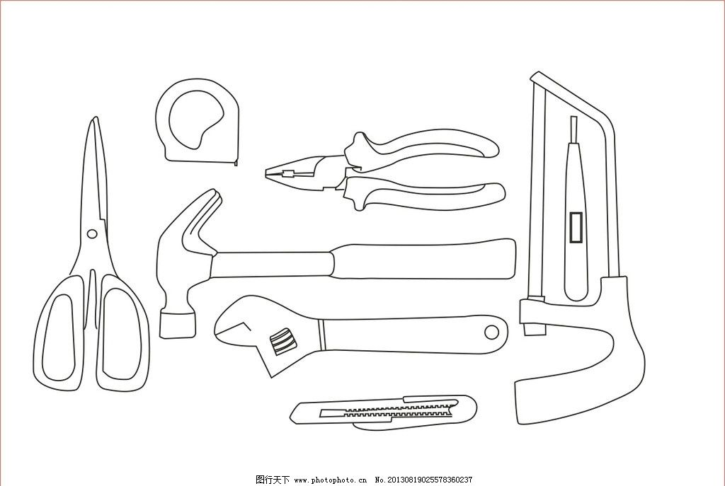5个学习用品的简笔画