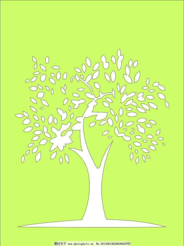 镂空树 木雕 雕花 花格