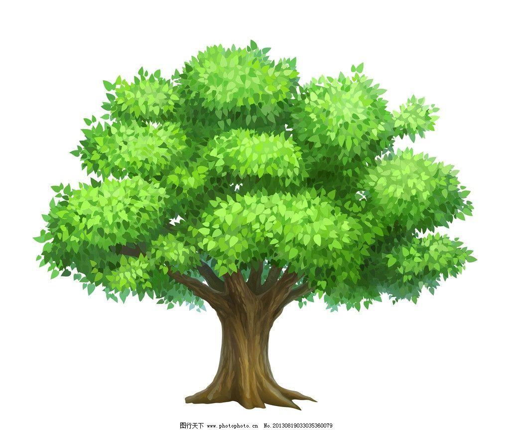 卡通树木图片