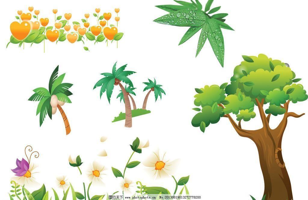 大树模板下载 大树 椰树 椰树图片 卡通椰树 手绘椰树 卡通椰子树