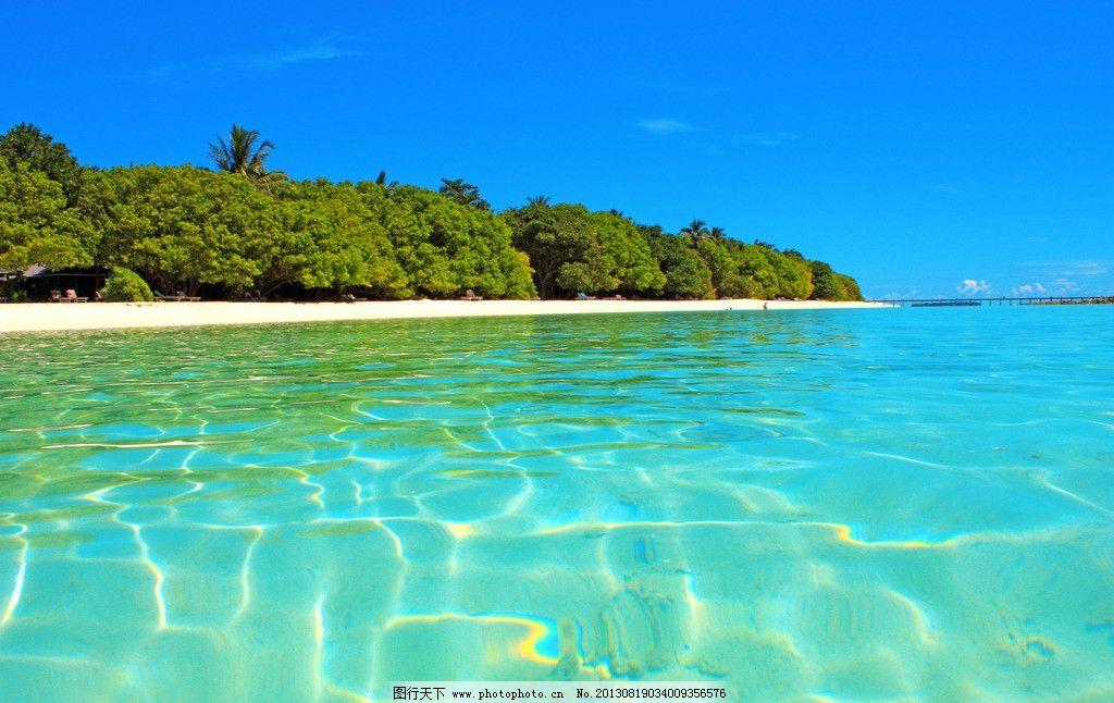 马尔代夫 海岛 海底 森林 蓝天 沙滩 海景 海洋 大海 旅游 清澈 旅行