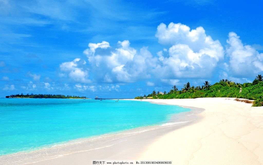 设计图库 自然景观 旅游摄影  海滩 沙滩 海景 海洋 大海 建筑 栈桥
