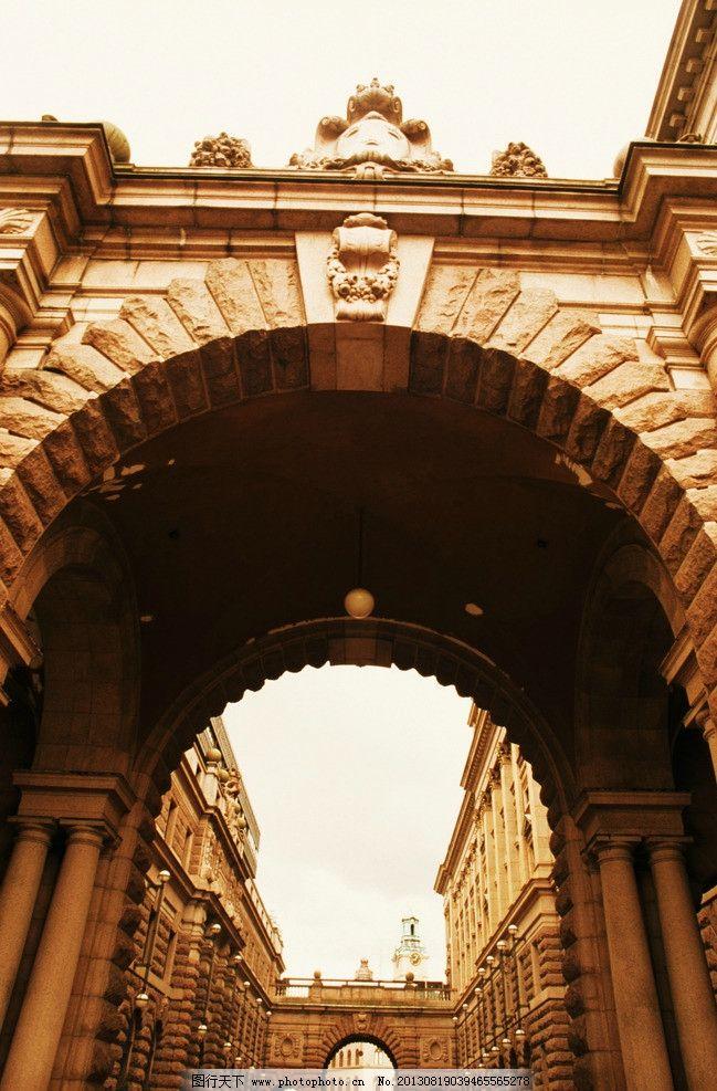 拱门 欧式拱门 街景 大门 欧洲 门洞 复古 古建筑 建筑摄影 建筑园林