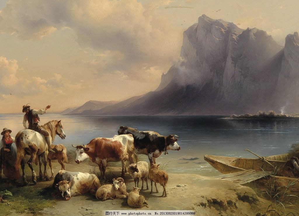 动物油画图片