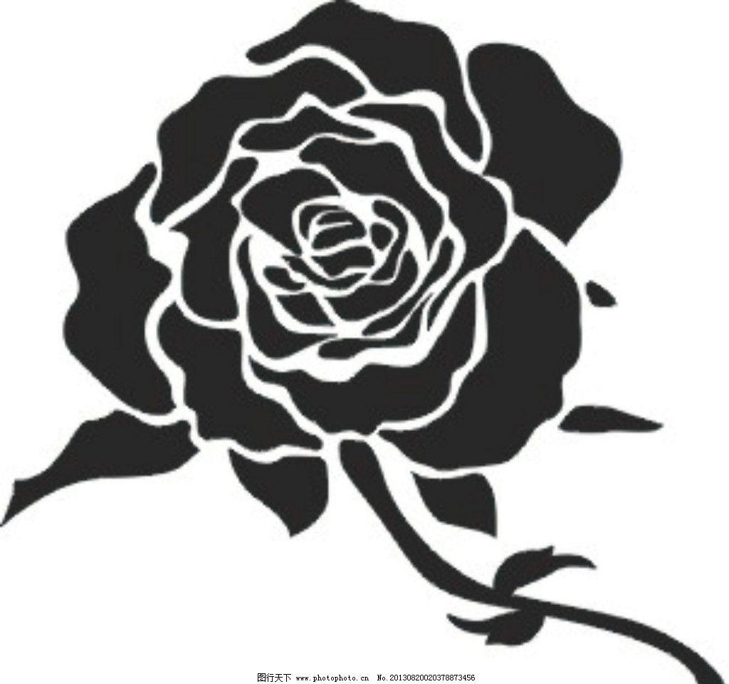 玫瑰花矢量 玫瑰花 矢量 黑白玫瑰 花边 花草 花纹 花纹花边 底纹边框
