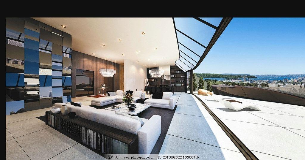 阳台图片,别墅 客厅 卧室 大厅 露天 茶几 地板-图行