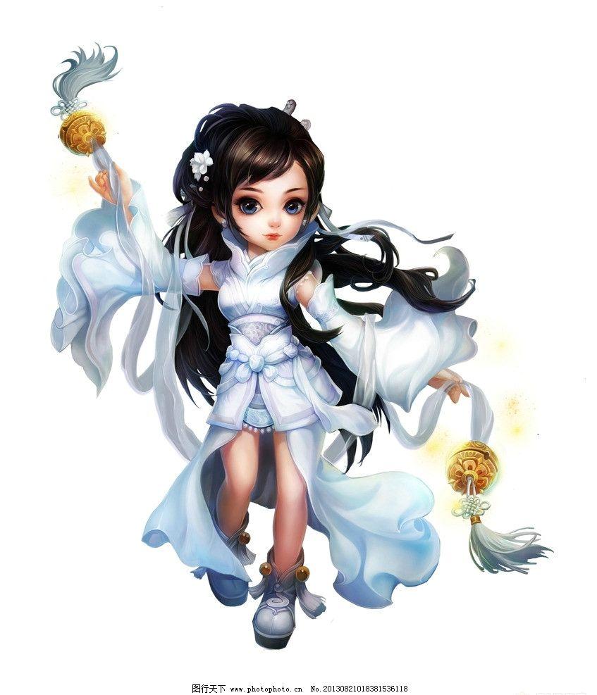 小龙女 网游 神雕侠侣 人设 游戏角色 原画 动漫人物 动漫动画 设计