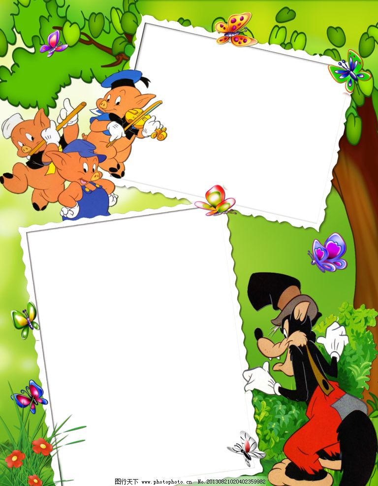 花样相框 png 免抠图 框架 花 叶子 蝴蝶 边框相框 底纹边框 设计 28