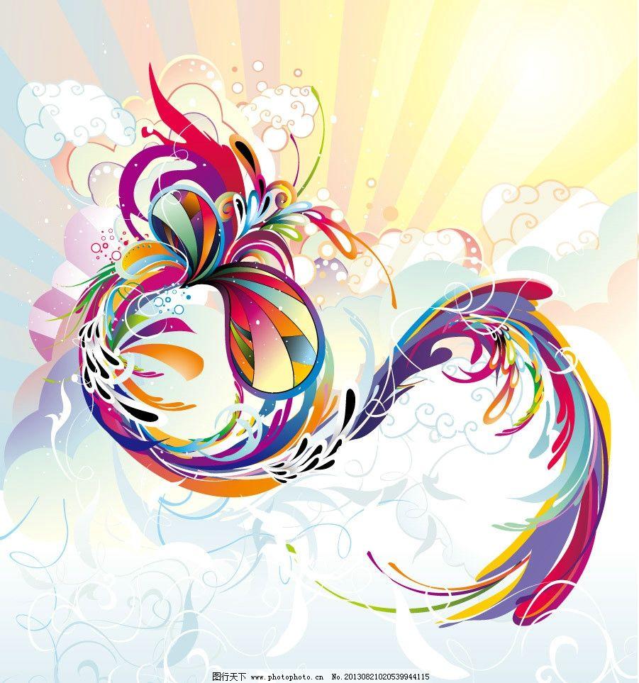 柔美曲线 动感线条 华丽曲线 条纹 炫彩 欧式花纹 古典花纹 潮流底纹