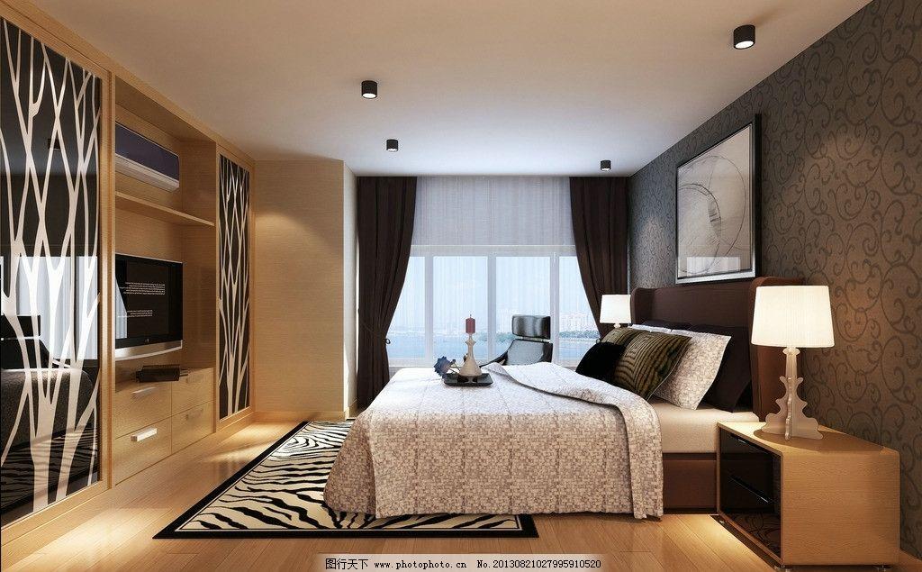臥室效果 公寓             簡約 床 窗戶 地毯 室內設計 環境設計