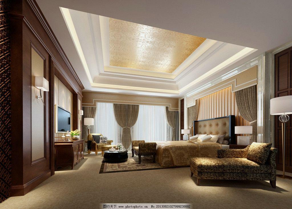 酒店房间装修效果图片