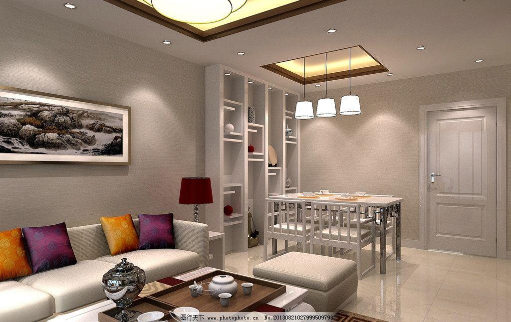 新中式客厅 新中式      风格 室内设计 中国风 家具 餐厅 光照 灯具
