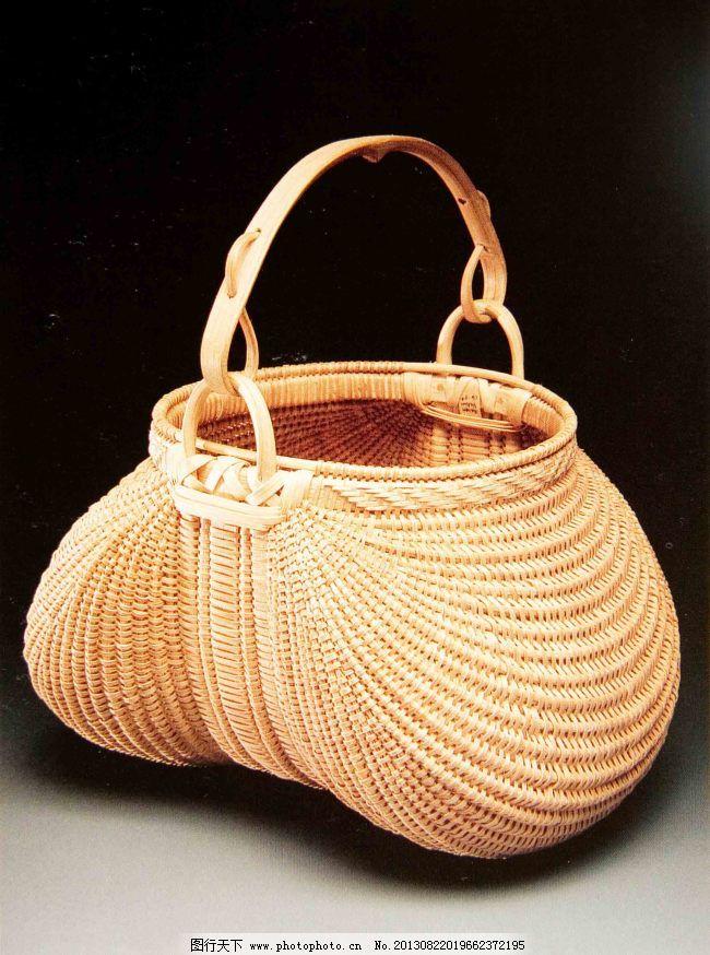 竹编包袋手绘结构图