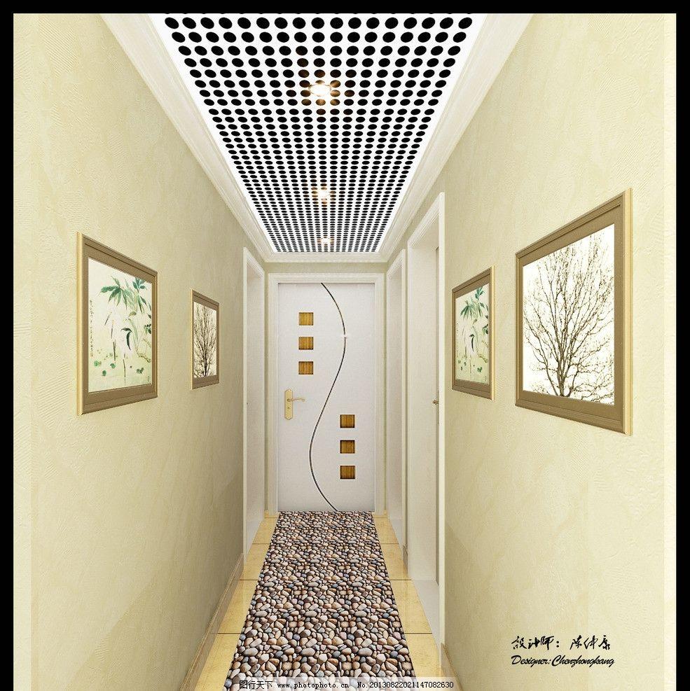 欧式酒店走廊图片