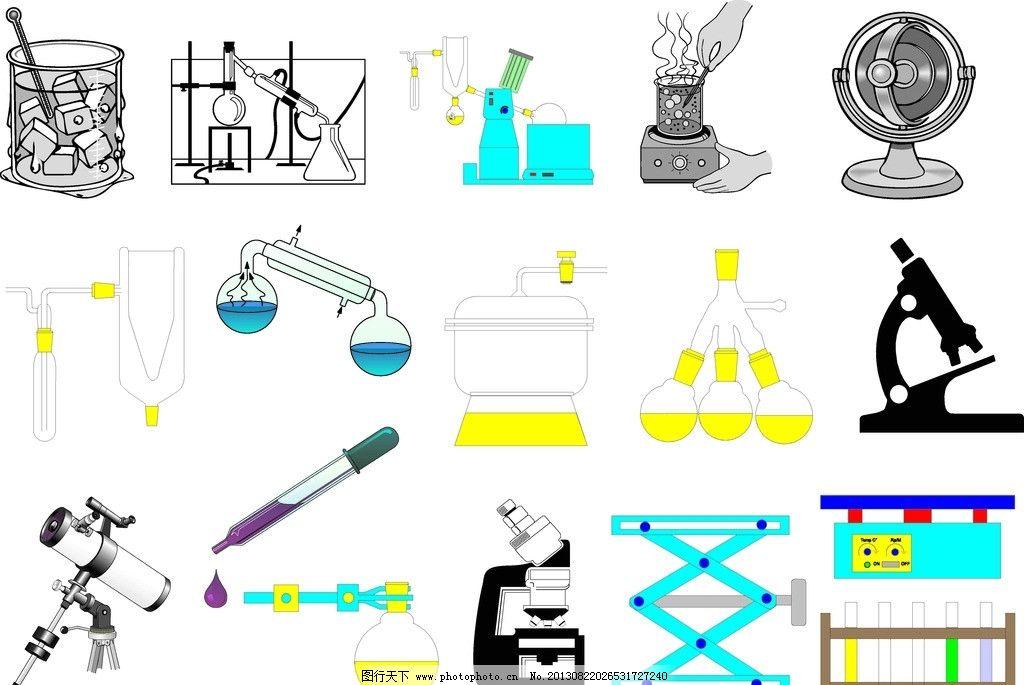 科学实验工具 科学 实验工具 量杯 显微器 滴管 科学研究 现代科技