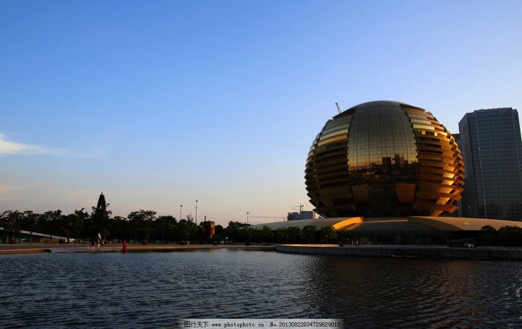 钱江新城 砂之船 风光照 城市风景 杭州 建筑景观 摄影