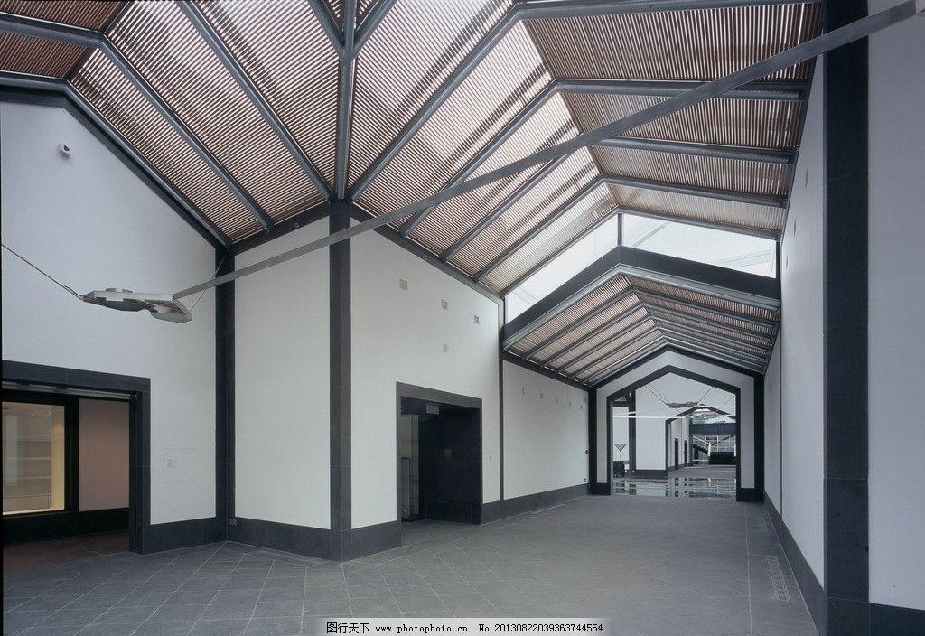 苏州博物馆 博物馆 木格珊 木隔断 中式建筑 走廊 过道 走道 苏州图片