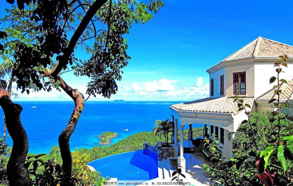别墅 美景 风光 风景 景色 豪宅 房子 海边 海景 海洋 海景房 复式 建
