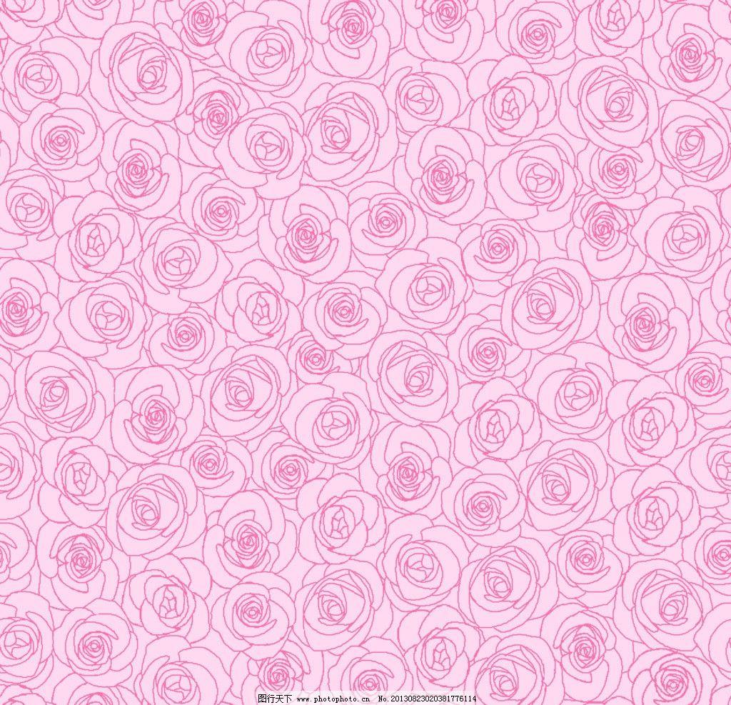 墙纸设计 服装面料 底纹 花卉 线条花卉 纺织品设计 底纹边框 设计
