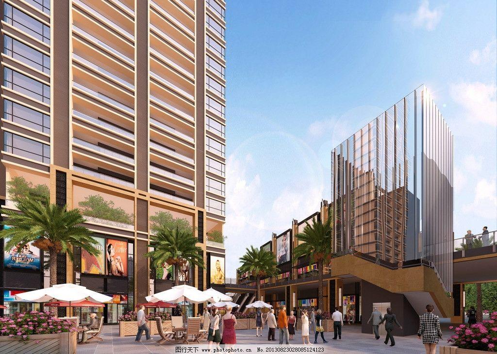 万科建筑效果图 万科 建筑        高层 现代风格 人群 建筑设计 环境
