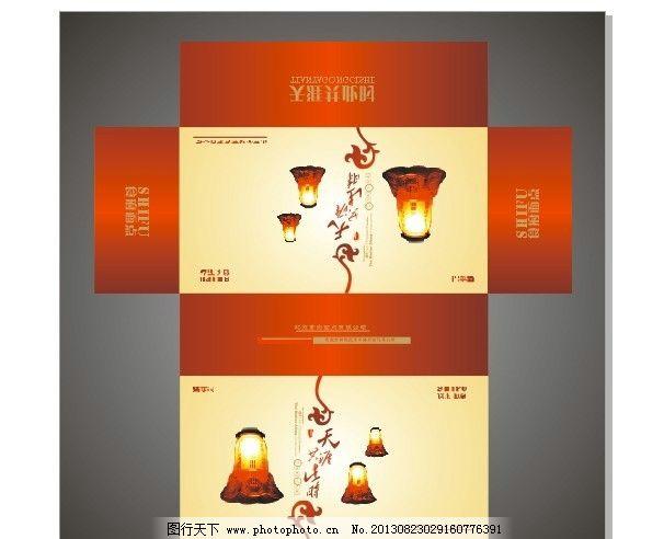 包装盒 纸盒 产品包装 包装设计 包装展开图 展开图 中秋月饼盒 广告