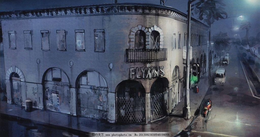 动漫古风街道图片
