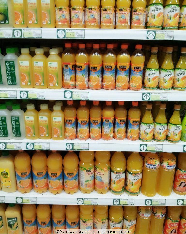 超市饮料背景
