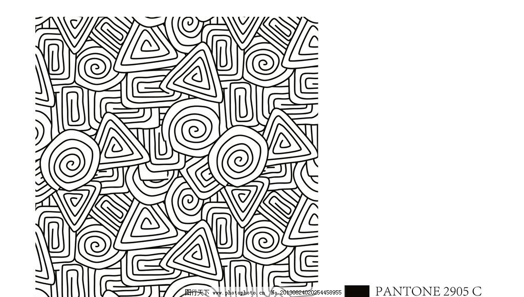 抽象几何图案 黑白 线条 复古 底纹背景 矢量