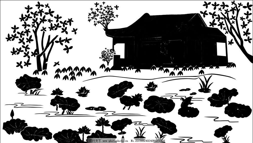 剪影 盛京八景 沈阳风景 历史 剪纸 雕刻 石雕 古代 矢量图