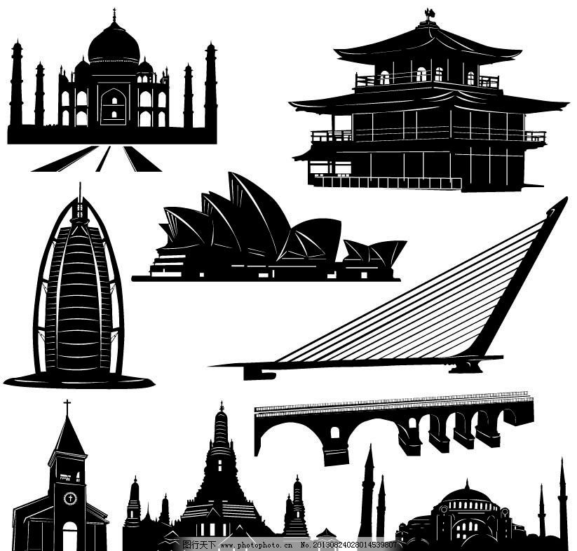 剪影建筑 剪影 城市 现代 ai 矢量 高楼大厦 城市建筑 建筑家居