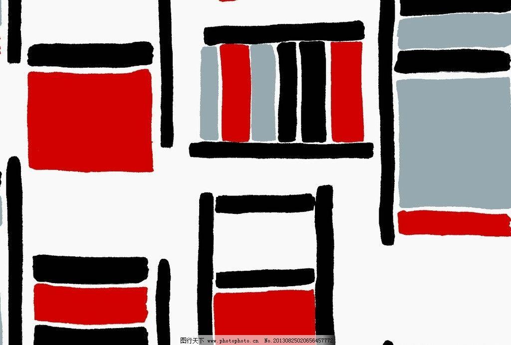 面料设计 墙纸设计 服装面料 现代几何 线条 抽象底纹 底纹边框