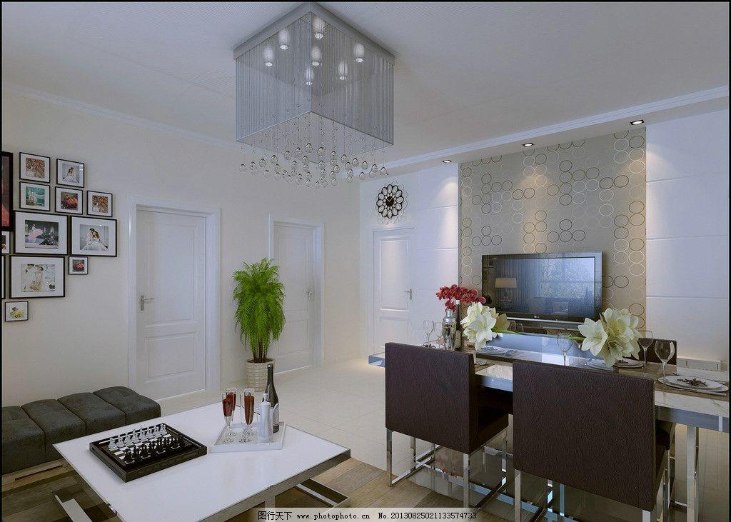 室内设计 现代 客厅 影视墙 壁纸 效果图 沙发花卉