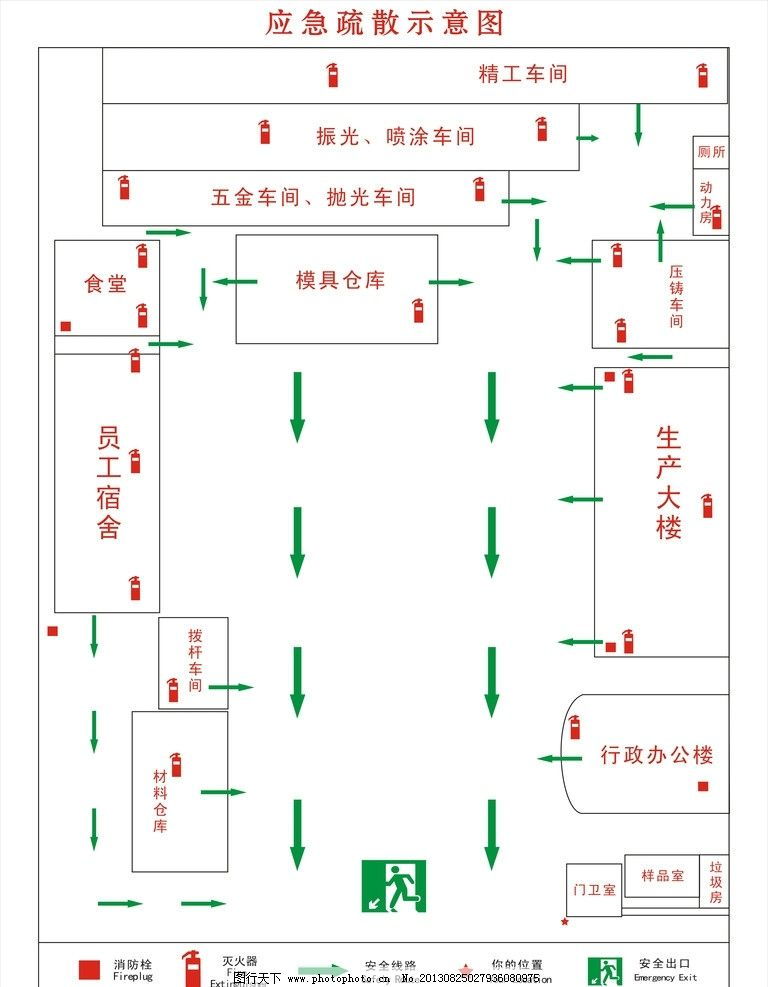 疏散指示灯接线线路走势实物图