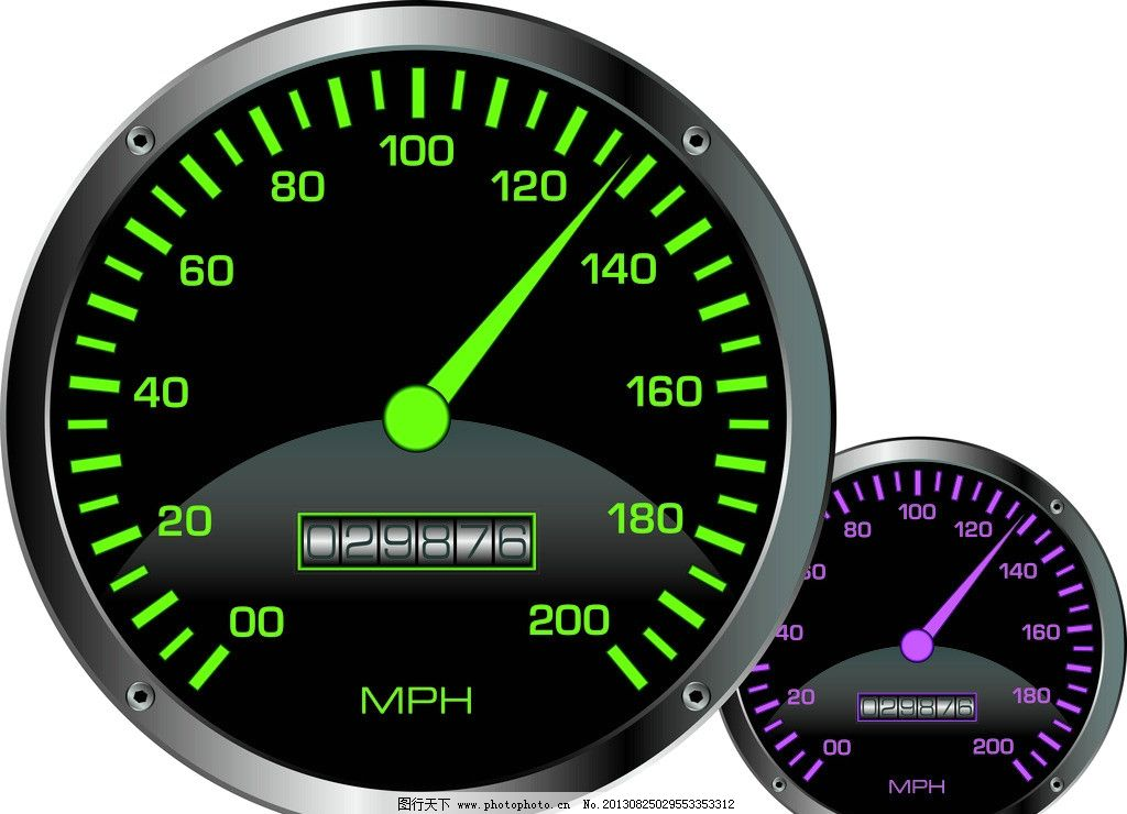 小车转速表图图片