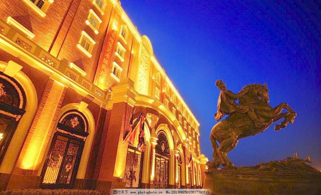 欧式建筑 摆设 雕塑 工艺品 广场 建筑摄影 建筑夜景 建筑园林
