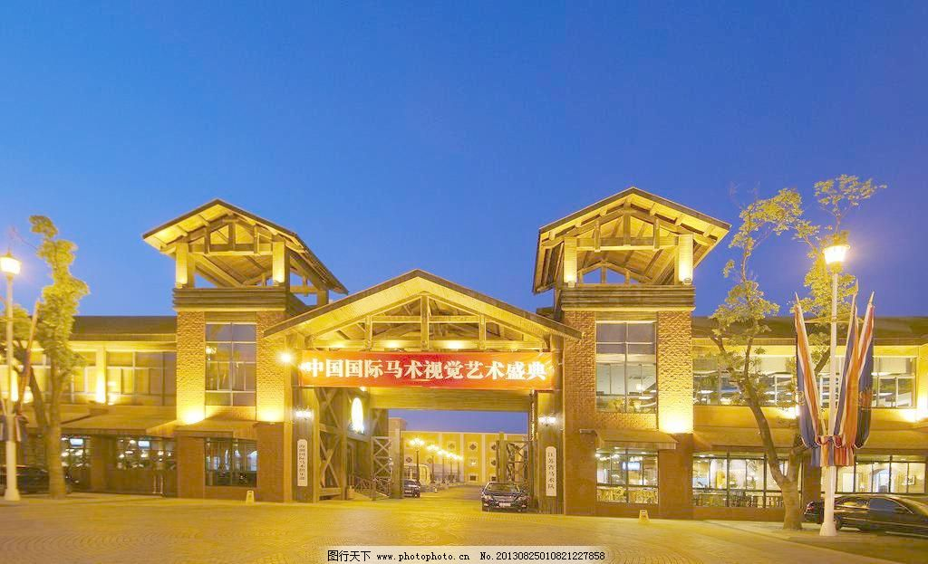香格里拉酒店      酒店外观 欧式酒店 酒店夜景 建筑夜景 雕塑 摆设